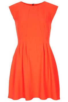 Crepe Seam Flippy Dress - I just really love the colour!