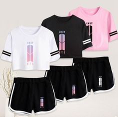 Shop High-Quality KPOP BTS Clothing, Accessories, and Merchandise Products at Affordable Prices. Kpop Fashion, Teen Fashion, Korean Fashion, Fashion Outfits, Kpop Outfits, Trendy Outfits, Summer Outfits, Cute Outfits, Bts Hoodie