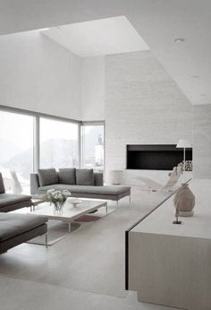 Modern living room design would be your best choice. Clean lines, a minimum of accessories and sharp, well-defined colors characterize modern living room design schemes. Living Room Colors, Living Room Grey, Home Living Room, Living Room Designs, Living Room Decor, Apartment Living, Living Area, Modern Minimalist Living Room, Living Room Modern