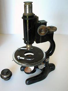 vintage microscope.