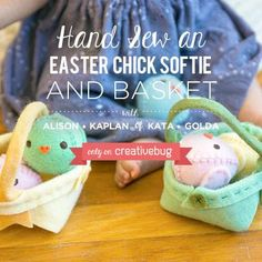 This kit contains the materials you need to complete the Creativebug video tutorial for Kata Golda's Chick and Basket.  Kit contains materials only to make one
