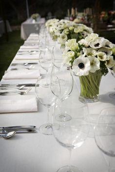 Outdoor Rancho Santa Fe Wedding from Isari Flower Studio | Style Me Pretty  anemone