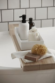 Add a finishing touch to your bathroom with accessories that deliver style to your daily hygiene routine. Clean-lined pieces create an instantly cool space. This stylish tray will add a fashionable touch to any washroom. Made of ceramic with a rubber finish, it's a quick and easy way to update your home's style. Pick up matching accessories to complete the set. Bathroom Collections, Washroom, Soap Dispenser, Routine, Tray, Tropical, Cleaning, Touch, Ceramics