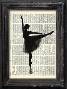 Print Art Ink canvas poster Drawing best gift Ballet Art Painting Illustration  Ballerina Vintage Di