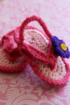 Newborn Girl Flip Flops  Size 06 months by TheSpunkyOnion on Etsy, $15.00