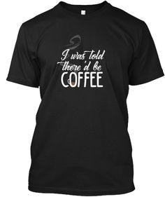 Coffee Addict Black T-Shirt Front