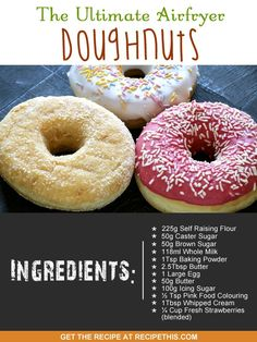 Airfryer Recipes | The Ultimate Airfryer Doughnuts                                                                                                                                                                                 More