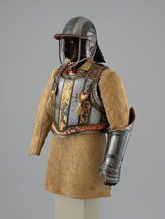 A very interesting Harquebusier's armor with a Buff Coat belonging to Pedro II of Portugal, attributed to Richard Holden with replacement pieces attributed to Daniel Tachaux. Original armor ca. 1683, Buff Coat, ca. 17th-18th century,...