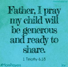 Joyful Mom Prayers - Day 17 - Generosity