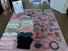 This Baby Shower Onesie Station Kit is just one of the custom, handmade pieces you'll find in our party games shops. Baby Shower Crafts, Baby Shower Activities, Baby Shower Games, Baby Shower Decorations, Shower Gifts, Cricut Baby Shower, Shower Baby, Bridal Shower, Paige Hyland