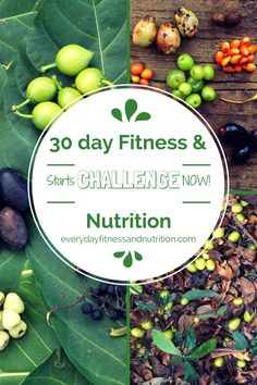 Join us for our FREE 30 day fitness and nutrition challenge! Everyday Fitness and Nutrition