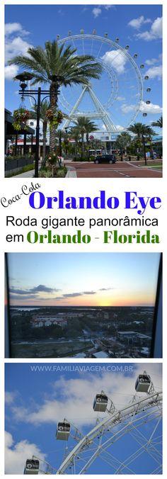 A Coca-Cola Orlando Eye é um passeio imperdível em Orlando, na Florida. Essa roda gigante panorâmica oferece ao visitante uma visão incrível da cidade e das atrações na área da International Drive.