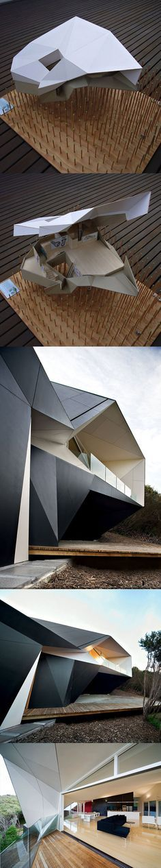 Architecture of Klein Bottle House by McBride Charles Ryan. May be on my top 5 favorite houses Architecture Pliage, Model Architecture, Folding Architecture, Architecture Antique, Concept Architecture, Contemporary Architecture, Amazing Architecture, Architecture Details, Landscape Architecture