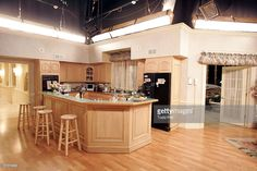 Interior of the Soprano house dining room leading into the kitchen of the Sopranos house is part of the set decoration of the HBO's hit series at the Silver Cup studios on February 28, 2006 in Queens section of New York.