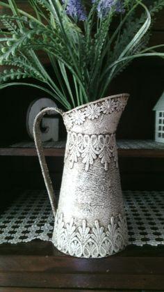 Tin Can Crafts, Jar Crafts, Crafts To Make, Romantic Shabby Chic, Vintage Shabby Chic, Shabby Chic Crafts, Shabby Chic Decor, Recycle Cans, Rustic Art