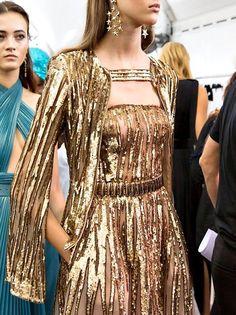 #eliesaab #fashion #model #details #ss17 #designer #backstage #beauty #beautiful #gold #gown #womensfashion #fashionista #glam #glamorous #perfection #pretty #elegant #elegance #highfashion #expensive #dress #glamour #gorgeous #perfect #ss2017 #runway #fashionshow #hautecouture #couture