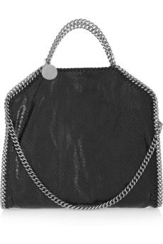 Stella McCartney The Falabella medium snake-effect faux leather shoulder  bag  bf7e5704abad0