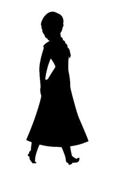 Anna Frozen Clipart Digital Silhouette SVG Instant by DixiePeaches