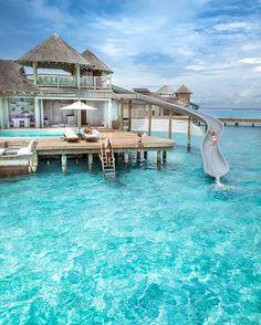 Vacation Places, Vacation Destinations, Dream Vacations, Vacation Spots, Maldives Vacation, Visit Maldives, Maldives Beach, Maldives Holidays, Beautiful Villas