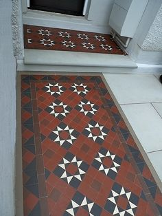 Victorian Edwardian mosaic tile path company Balham Clapham Battersea Southwark London Contact anewgarden for more information