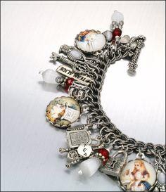 Charm Bracelet - Alice in Wonderland. by Blackberry Designs on Etsy. www.blackberrydesigns.etsy.com