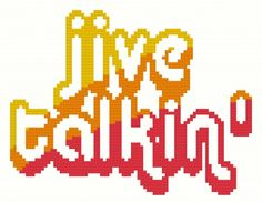 Mr X Stitch Cross Stitch Flash Card - J is for Jive Talkin