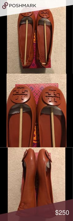 3dc1cce721d NEW Tory Burch Minnie Travel Ballet Size 9 NEW Tory Burch Minnie Travel  Ballet Slip On With Logo Color Desert Spice Size 9 Leather New in box So  cute for ...