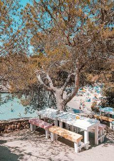 So schön ist die Cala Santanyi im Südosten Hotels, Ibiza, Dolores Park, Around The Worlds, Beaches, Travel, Home, Del Mar, Steamer Trunk