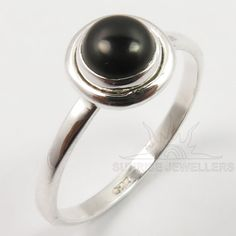 925 Solid Sterling Silver BLACK ONYX Gemstone Ring Choose Any Size Variation #Unbranded #Gemstone #All