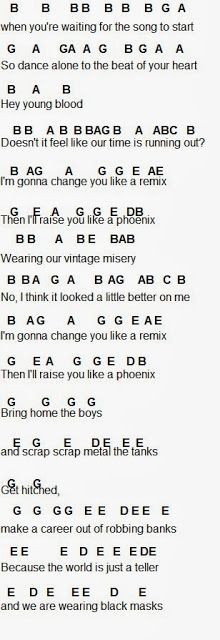 Flute Sheet Music: Fall Out Boy. flutes are punk <-- lol. I'm gonna use this for my glockenspiel lol. because the bells are punk, too