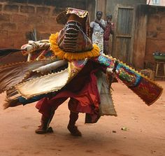 Egun dancer in Benin, Africa