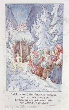 Christmas Jesus, Christmas Cards, Catholic Kids, Christmas Illustration, Baby Jesus, Fairy Land, Vintage Cards, Illustrations, Vintage Christmas