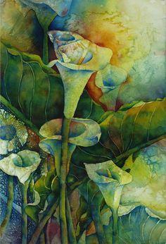 Contemporary Painting - Garden Deep (Original Art from Sue Primeau)