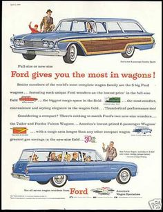 1960 Ford Country Squire Station Wagon & Falcon Station Wagon. We had the bottom one.