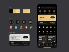 Financial APP designed by Itern漠声. Connect with them on Dribbble; Android App Design, App Ui Design, Interface Design, User Interface, Web Design, Dashboard Design, Game Design, Mobile App Ui, Mobile Design