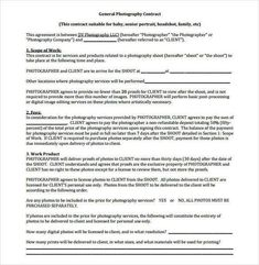example of family photography contract 20 photography contract template photography contract template is