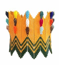 CGB : LeAnn Baehman's work - a bangle like a Crayola box of crayons.