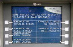 London ATMs Offer Cockney Slang Language Option.
