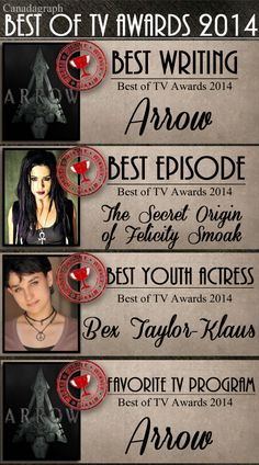 Canadagraph's Best Of TV Awards 2014 wins for Arrow - Part 2