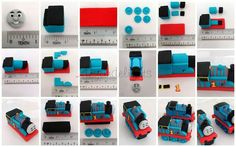 Picture tutorial Thomas the train cake topper