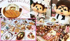 Monchhichi Pop-up Café Pop Up Cafe, Cookies, Disney Princess, Desserts, Food, Crack Crackers, Tailgate Desserts, Deserts, Biscuits