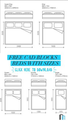 Free CAD Blocks - Bed and mattress sizes in mm and inches Autocad, Interior Design Sketches, Interior Design Tips, Office Furniture Design, Furniture Logo, Pipe Furniture, Furniture Vintage, Floor Plan Symbols, Floor Plan Sketch