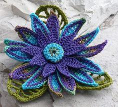 Crochet Brooch Fiber Brooch Irish Crochet Pin by Nothingbutstring. $22.50, via Etsy.