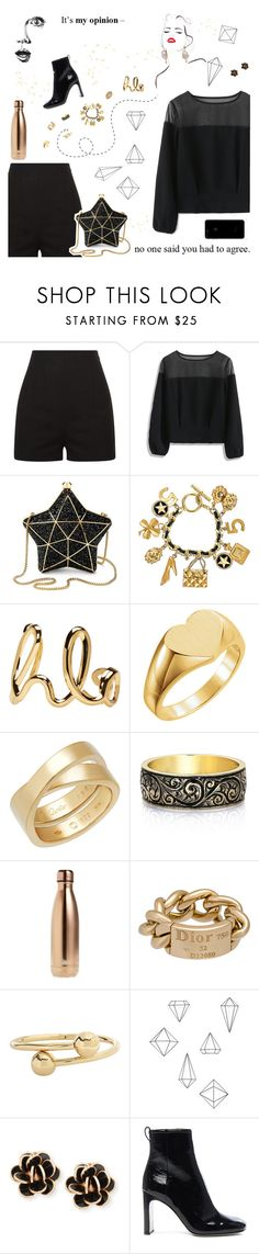 """In my opinion"" by dory-speaks-whale ❤ liked on Polyvore featuring GE, Chicwish, Aspinal of London, Chanel, Chloé, Cartier, S'well, Christian Dior, J.W. Anderson and Umbra"