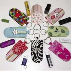 Sew your own key fob pocket - GREAT for chapstick or thumb drive