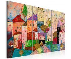 Pintura moderna Picturesque Small Town