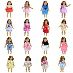 15 Colors American Girl Doll Dress 18 Inch Doll Clothes And Accessories Dresses #>=#>=#>=#>=#> Click on the pin to check out discount price, color, size, shipping, etc. Save and like it!