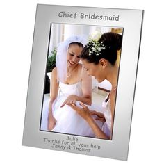 Engraved Chief Bridesmaid Silver Plated Photo Frame - from Personalised Gifts Shop - ONLY Personalized Photo Frames, Personalised Gifts, Engraved Gifts, Thank You Presents, Special Day, Wedding Photos, Photo Gifts, Bridesmaid, Silver