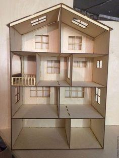 Купить или заказать Домик для кукол 90x60x30 (фанера 6мм). в интернет-магазине на Ярмарке Мастеров. Предлагаем вашему вниманию кукольный домик. Размер: 90*60*30. Домик достаточно большой - высота 90 см. Для большей вместимости высоту этажа сделали 20 см, глубину домика сделали 30 см. Первый этаж это хозяйственное помещение и гараж. Второй, третий и четвертый - это жилые этажи. По вашему желанию мы сможем предложить укомплектовать этот домик мебелью. эскизы мебели предоставим по запросу.