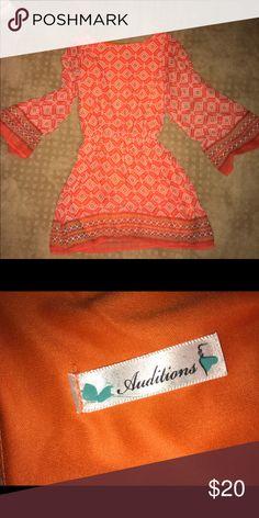 boutique dress orange adorable boutique dress Dresses Long Sleeve